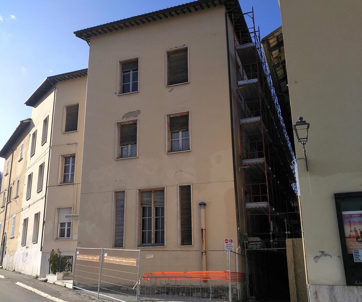 Riparazione danni e ripristino agibilità edificio danneggiato a seguito eventi sismici 2016